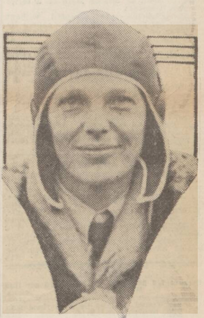 newspaper story about Amelia Earhart