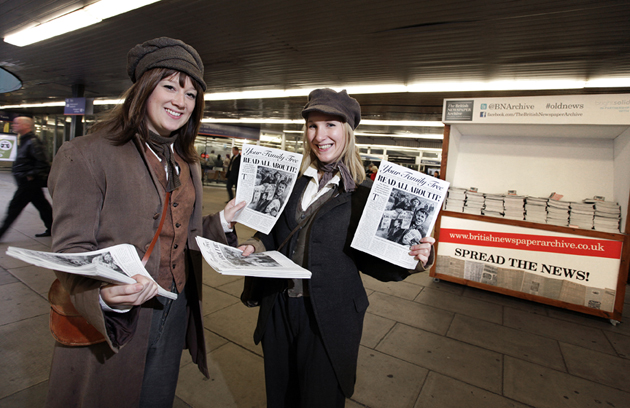 photo of old newspaper vendors