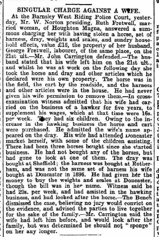 newspaper report for case study on Jessica Gillbank's ancestors