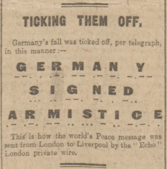 Germany signed armistice