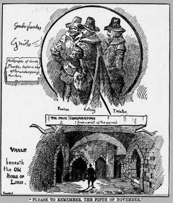 newspaper story about Guy Fawkes