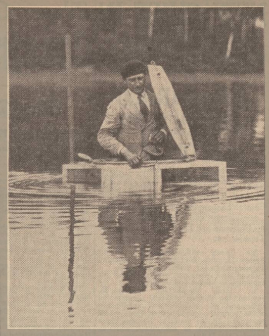 newspaper story about a submarine car in 1937