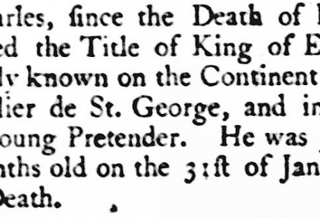 death of Young Pretender