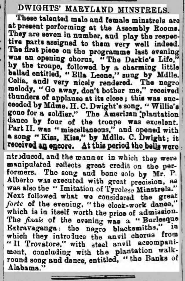 newspaper story about tracing music hall ancestors