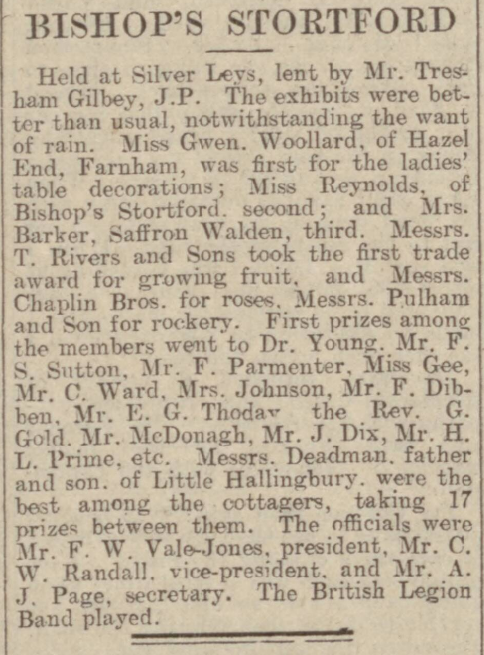 Chelmsford Chronicle - Friday 11 August 1933