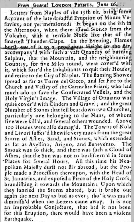 Newcastle Courant - Saturday 25 June 1737 page 1