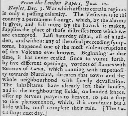 Caledonian Mercury - Wednesday 16 January 1760