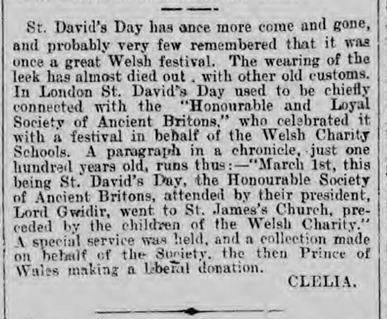 The History and Traditions of St David's Day