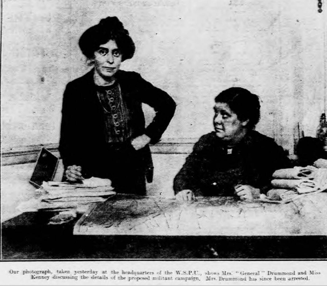 newspaper photos of suffragettes