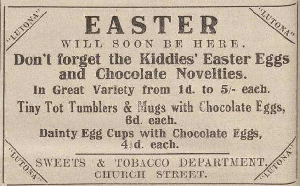 newspaper report about easter sunday and  easter eggs