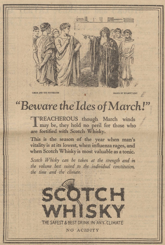 newspaper report about the ides of march
