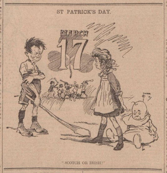 newspaper report on the origins of saint patrick's day