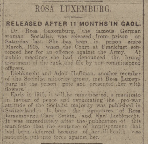 news story about rosa luxemburg