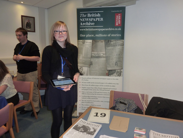 photo of the BNA Team at a family history fair