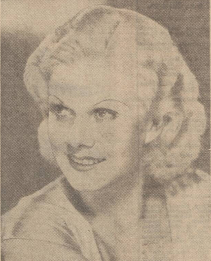 historical newspaper report about the death of jean haarlow