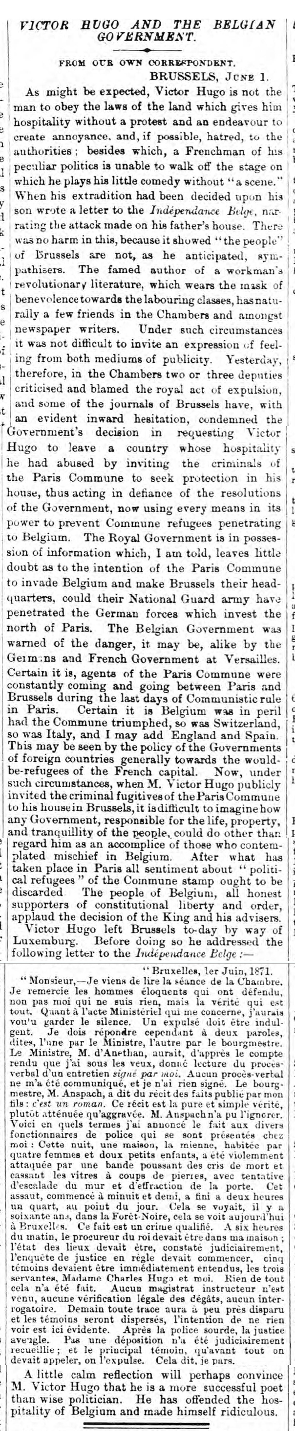 historical newspaper story about the fall of the paris