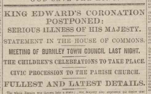 historical newspaper report about appendix operation on king edward VII