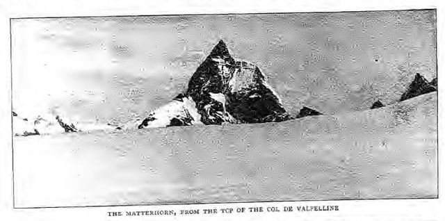 historical newspaper reports on The first conquest of the matterhorn
