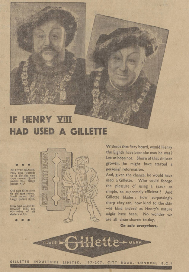 historical newspaper report about henry viii