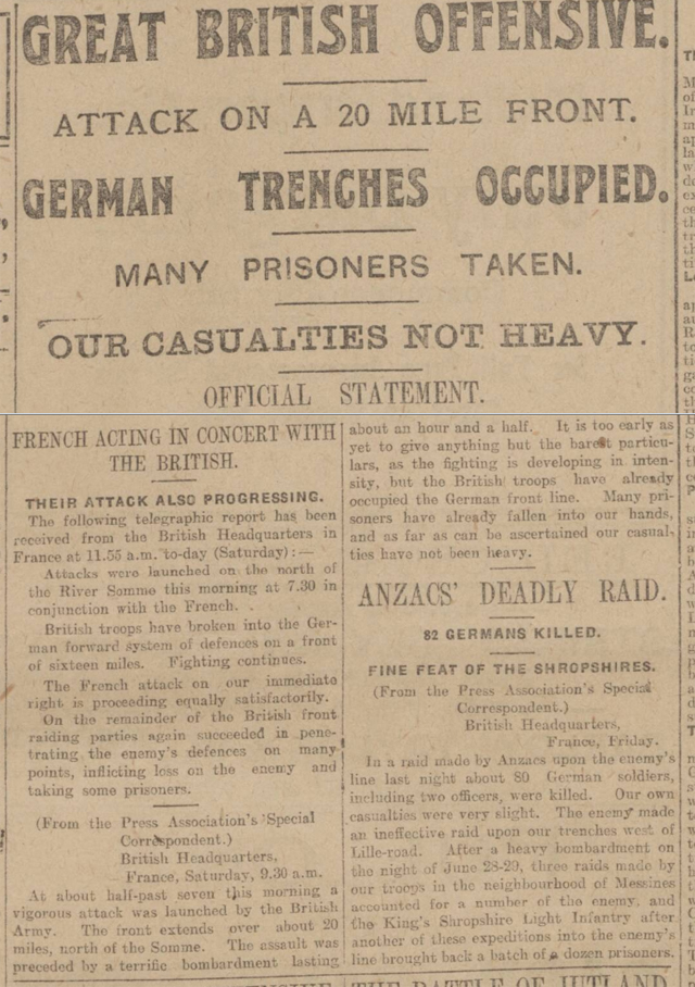 The Battle Of The Somme  The British Newspaper Archive Blog