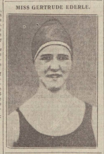 historical newspaper report about gertrude ederley