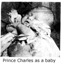 newspaper photo of prince charles as a baby