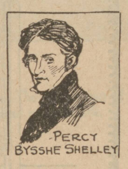 historical newspaper report about Percy Bysshe Shelley