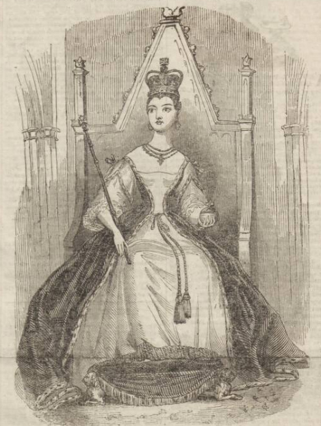 historical newspaper report about The birth of Queen Victoria's first child