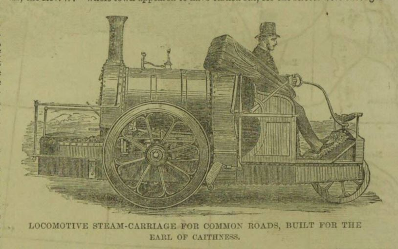 Locomotive steam carriage for common roads 1860