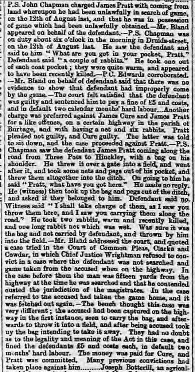 historical newspaper report on Who Do You Think You Are? - the Poaching Ancestor of Gary Lineker