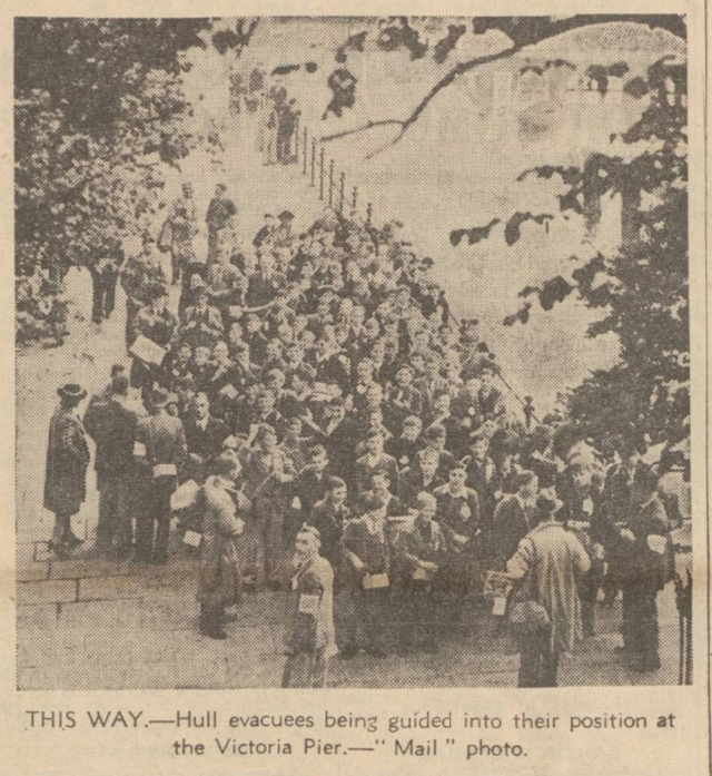 historical newspaper report on Evacuation of Children from UK Cities - 30 August 1939