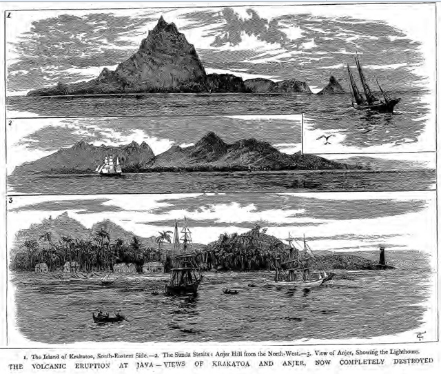 historical newspaper report on The Eruption of Krakatoa - 27 August 1883