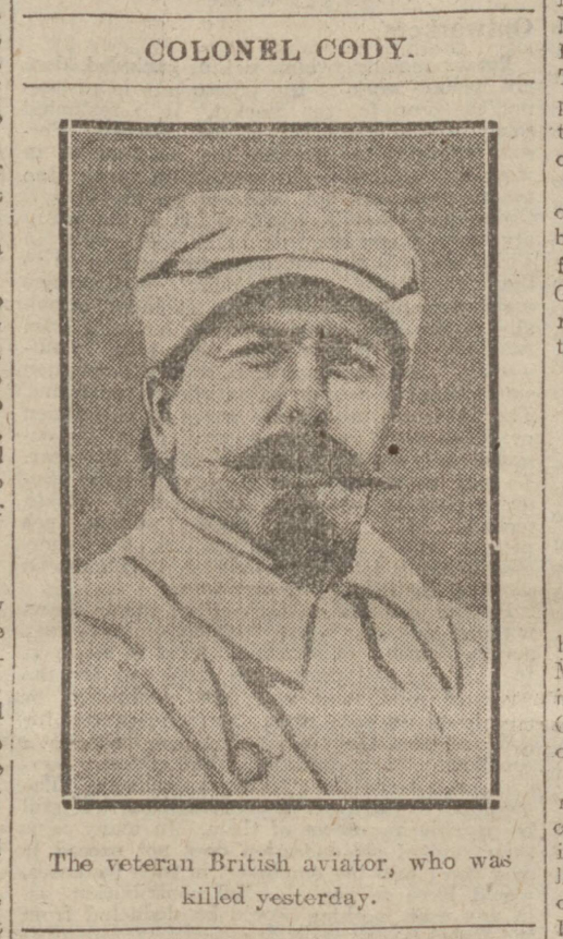 historical newspaper report on colonel cody