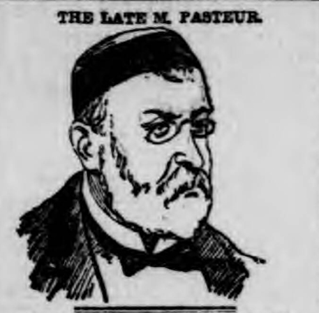 historical newspaper report on The Death of Louis Pasteur