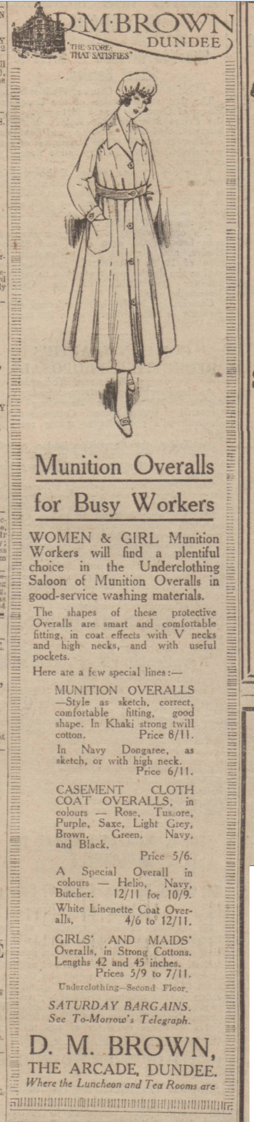 historical newspaper report on Women munition workers in WW1