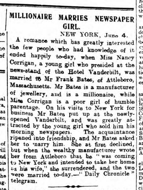 historical newspaper report on National Newspaper Carrier Day