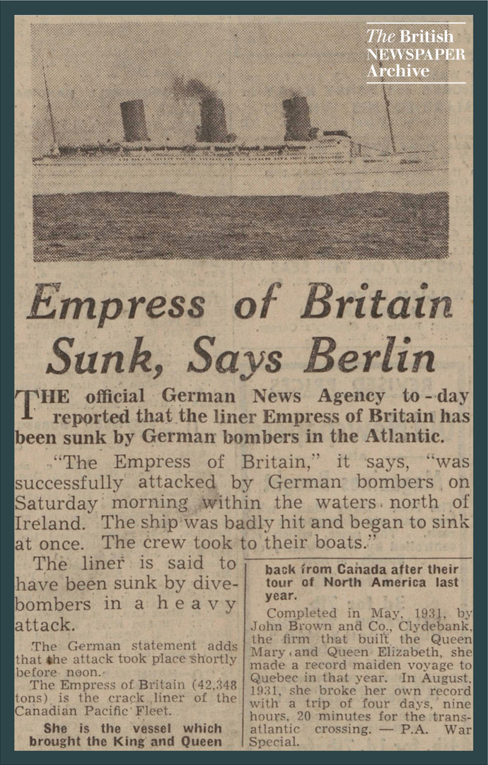 Sinking of Empress of Britain
