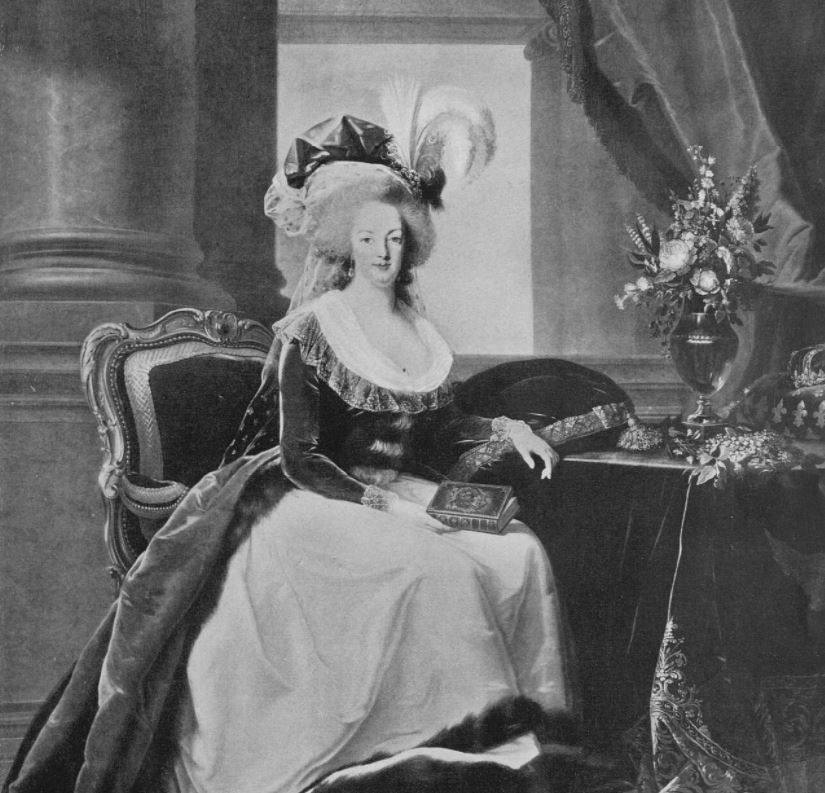 Portrait of Marie Antoinette as painted by Madame Vigre Lebrun