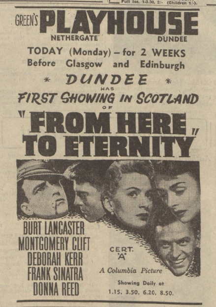 historical newspaper report about burt lancaster
