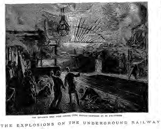 historical newspaper report on the fenian underground bomb in 1883