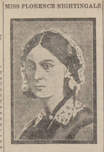 historical newspaper report on florence nightingale