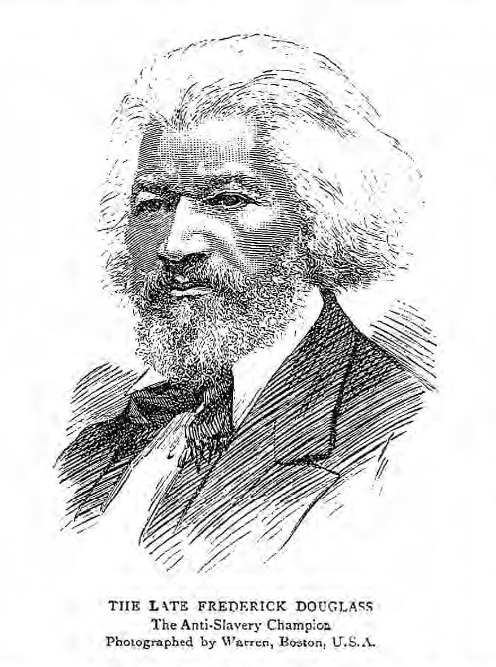 historical newspaper report about Frederick Douglass