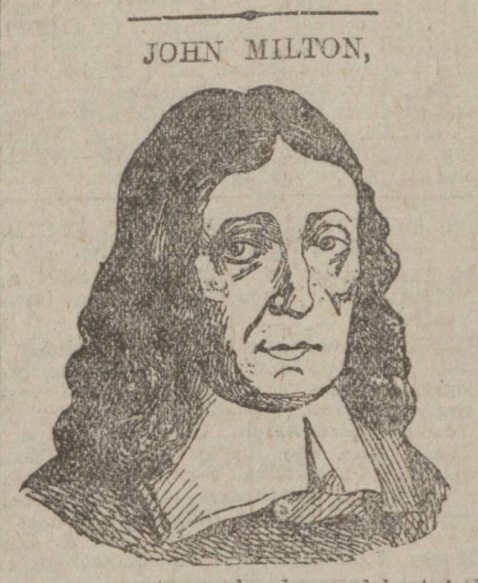 historical newspaper report on john milton