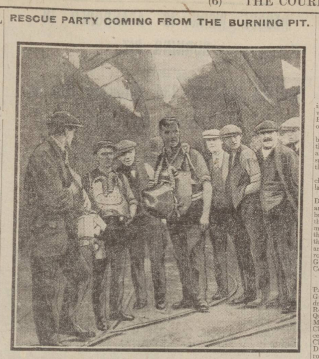 historical newspaper report on The Mining Disaster at the Universal Colliery in Senghenydd