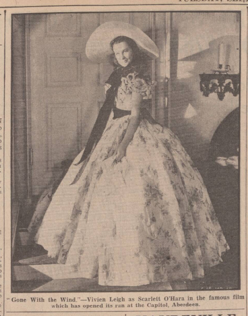 historical newspaper report about Vivien Leigh