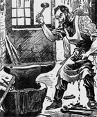 newspaper image of a blacksmith