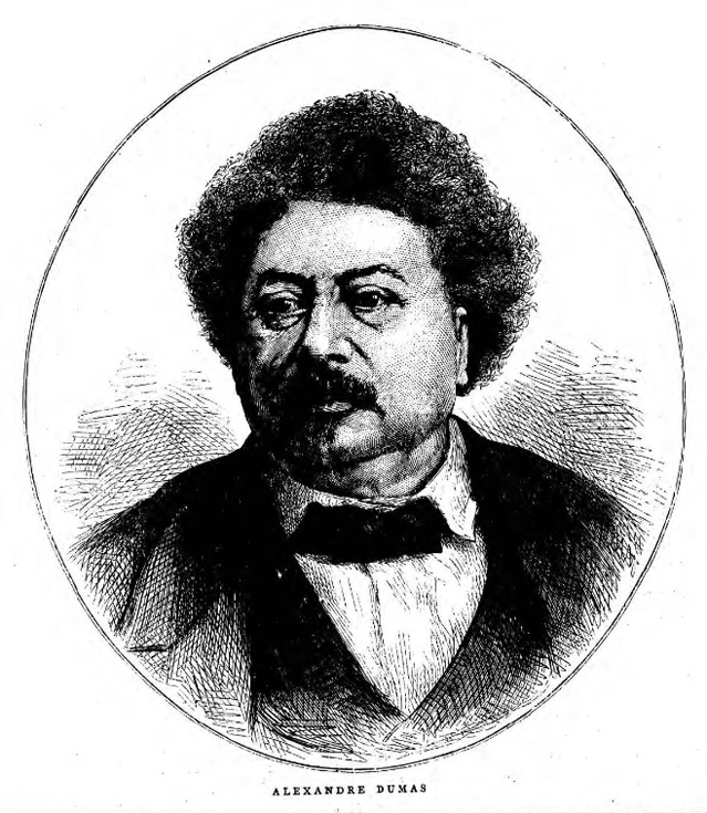 historical newspaper report on Alexandre Dumas