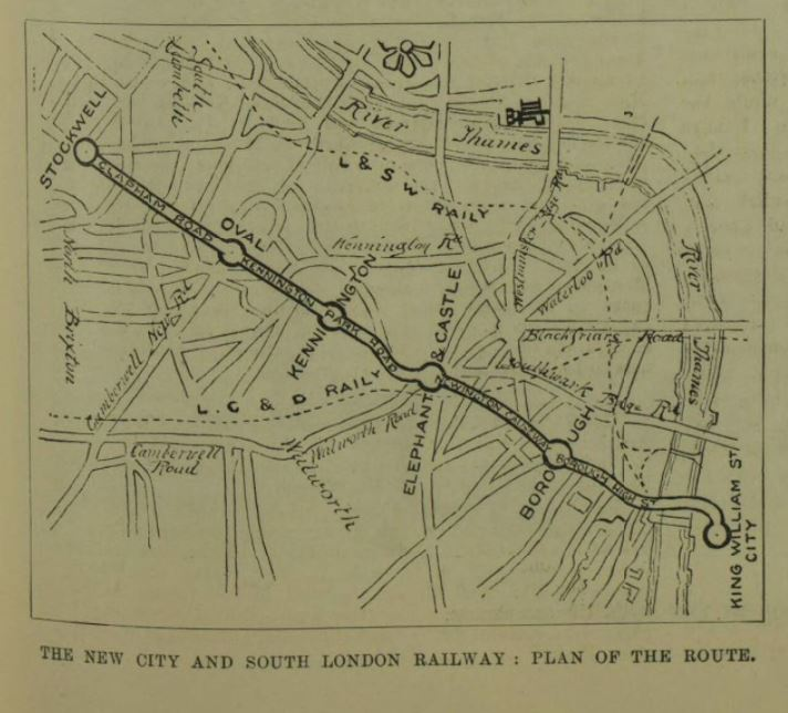 First electric railway route