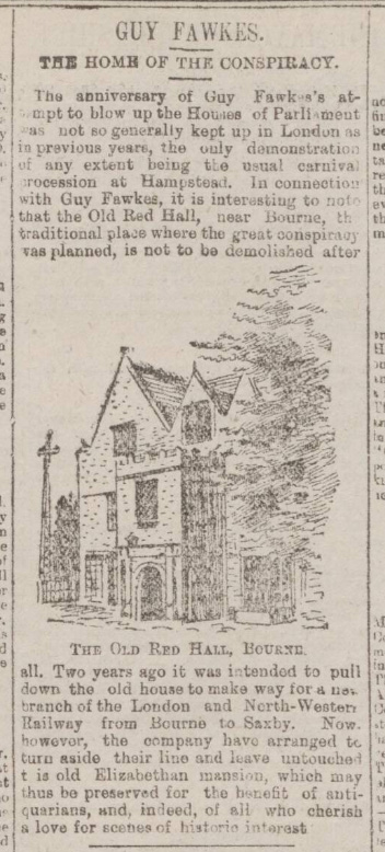 historical newspaper report on guy fawkes