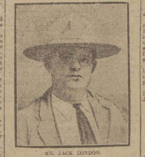 historical newspaper report on jack london